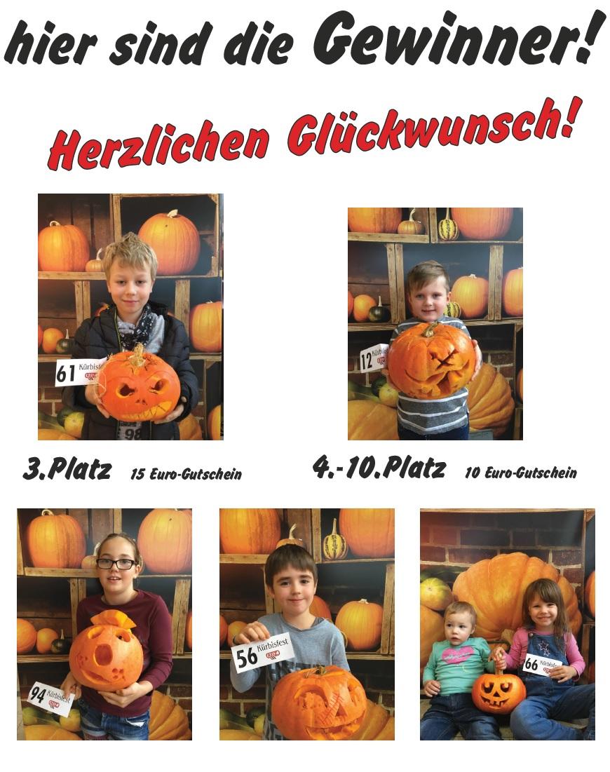 Gewinner Kürbisschnitzen 2017