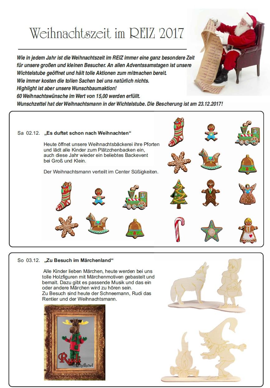 Weihnachtszeit im REIZ 2017